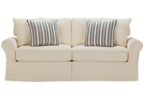 Cindy Crawford Home Beachside Natural Denim Sofa Isofa