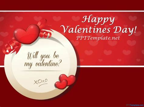 valentines card powerpoint template free powerpoint templates reboc info