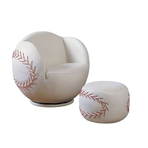 baseball chair with ottoman rosebery kids baseball swivel kids chair with ottoman in