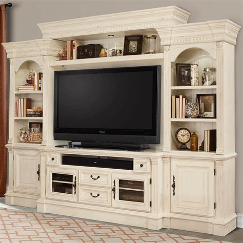 pier cabinet entertainment center parker house fremont fre 100 4 4 piece entertainment wall