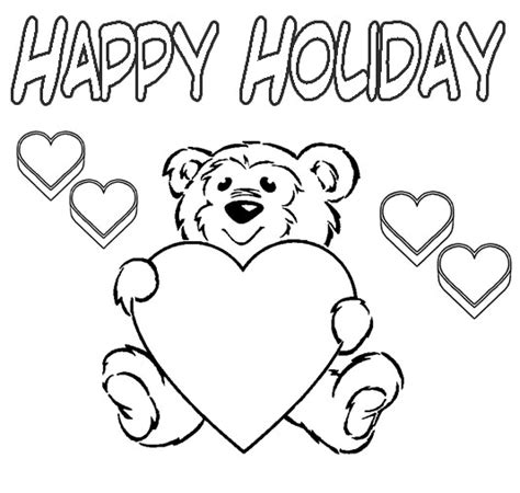 happy holiday coloring pages