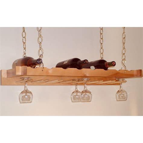 Hanging Stemware Rack by Hanging Wine And Stemware Rack In Wine Glass Racks