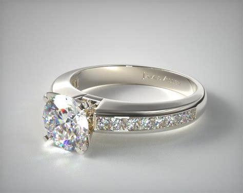 0 60ct channel set princess shaped engagement ring 14k