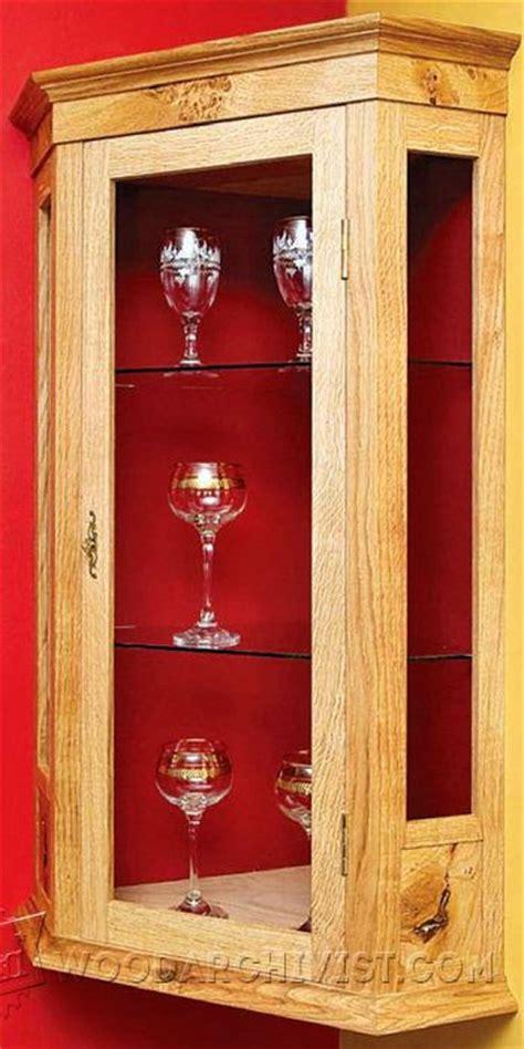 corner cabinet plans woodarchivist