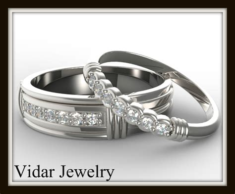 matching wedding band set for his and hers vidar jewelry