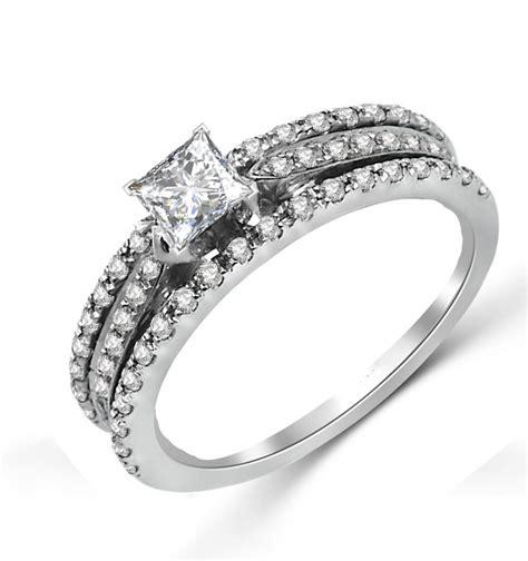 unique inexpensive engagement ring 1 00 carat princess cut