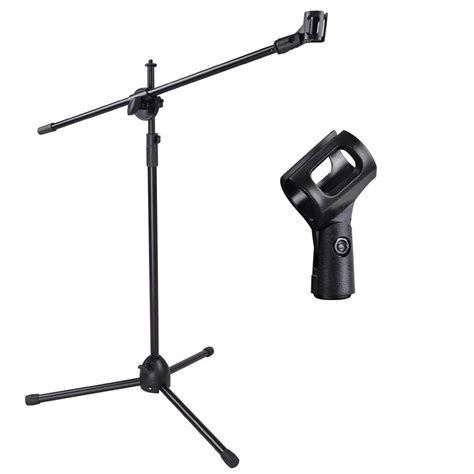Tripod Mic telescoping microphone stand mic clip 360 degree stage