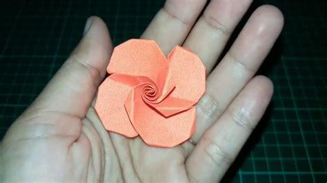 cara membuat origami bunga mawar youtube how to make beautiful origami rose flower cara membuat