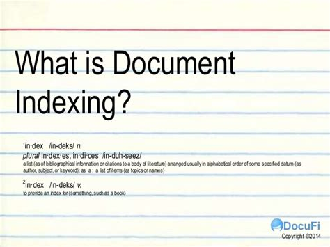 Document Indexing what is document indexing a tutorial for intelligent data