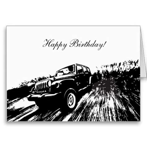 birthday jeep images wrangler rolling birthday greeting cards
