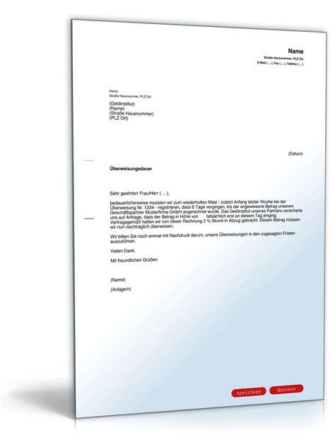 Beschwerde Brief An Die Telekom Beschwerde 220 Berweisungsdauer Bank Vorlage Zum