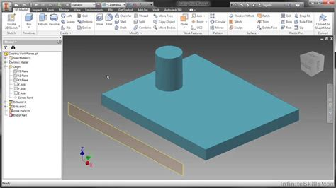 What Is Auto Desk by Autodesk Inventor 2014 Tutorial Creating Work Planes
