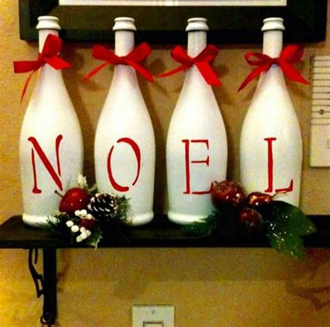 decorate wine bottle for christmas amazingly upcycled decorations and ornaments all about