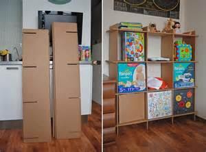 cardboard bookshelves 38 best images about diy cardboard on wall