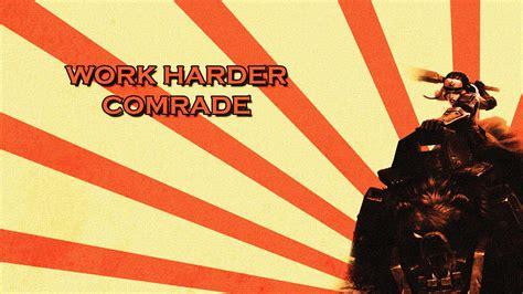 work harder comrade bear cavalry sejuani wallpaper