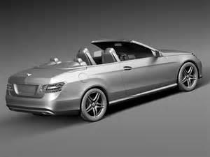 Convertible Models Mercedes E Class Amg Convertible 2015 3d Model Max