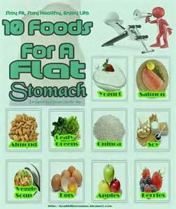 10 foods for a flat stomach health related