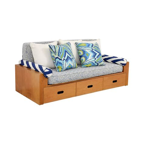 sofa daybed with storage 79 off custom wood daybed with storage sofas