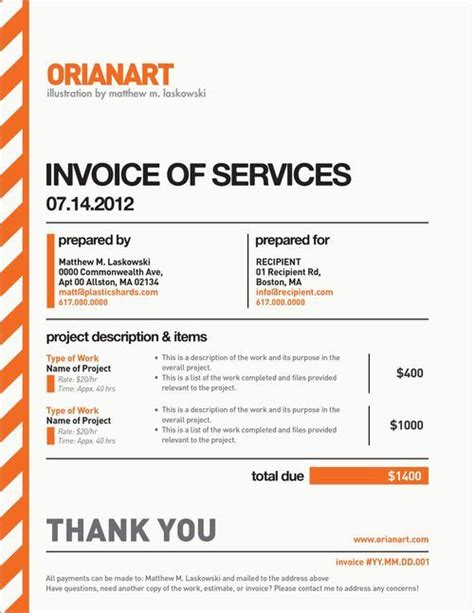 10 Creative Invoice Template Designs Pinterest Business Template And Graphics Author Illustrator Contract Template