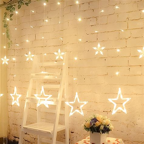 star shaped solar string lights hoppipolla star shaped string light kiyolo