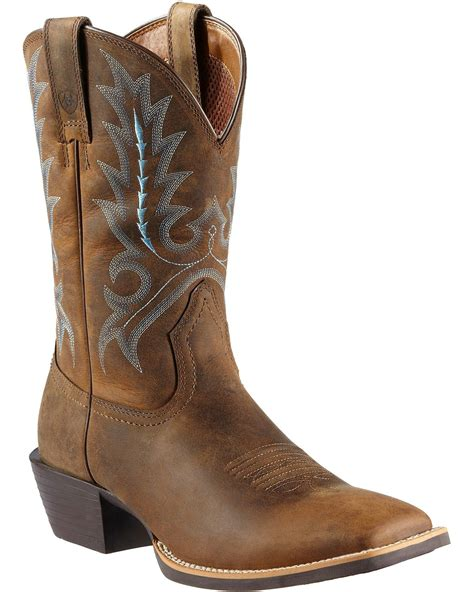 ariat square toe cowboy boots ariat sport outfitter cowboy boots square toe country