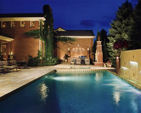 Pool Patio Lighting Denver Pool And Water Feature Lighting Outdoor Lighting Perspectives