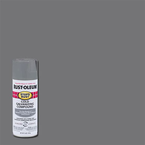 spray painting in the cold rust oleum professional 20 oz flat gray cold galvanizing