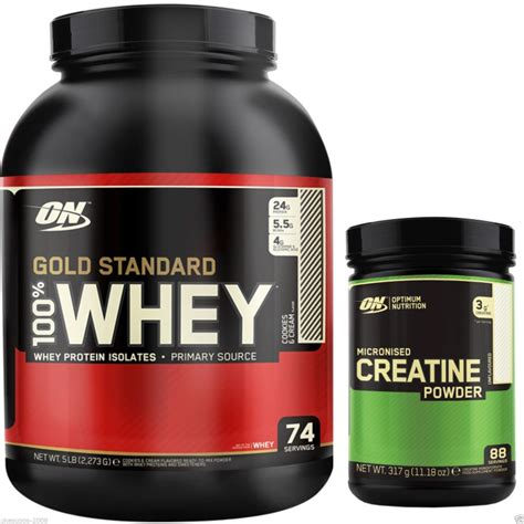 creatine gold standard optimum nutrition 100 gold standard whey protein 5lb on