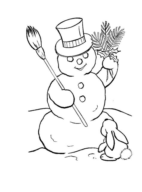coloring page snowman family free printable snowman coloring pages for kids
