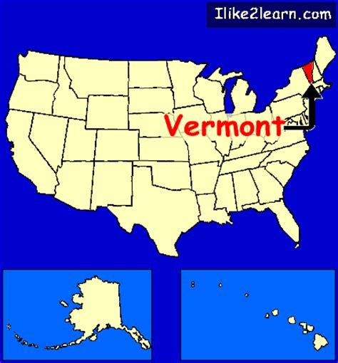 vermont united states map vermont
