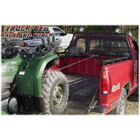 truck bed winch steel universal truck headache rack winch pinterest