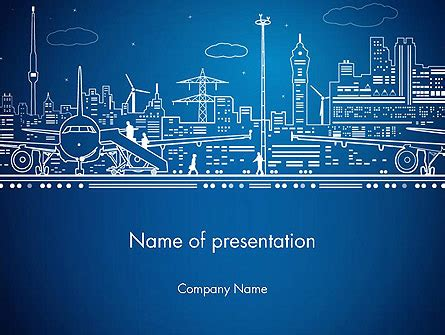 Airport Panorama Presentation Template For Powerpoint And Keynote Ppt Star Airport Powerpoint Template