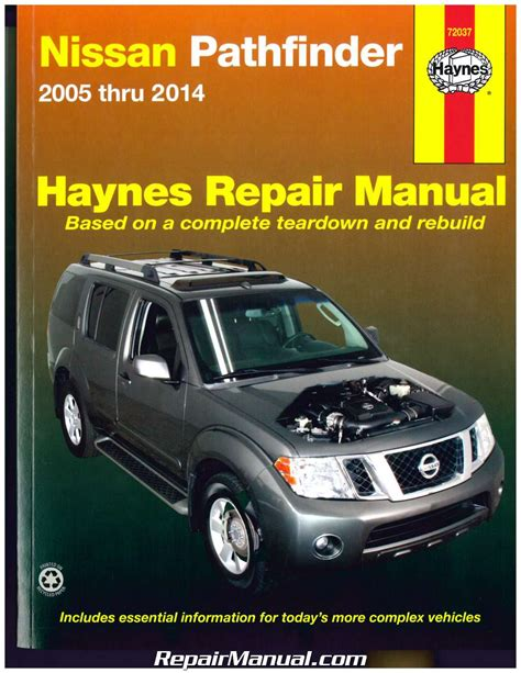 car manuals free online 2008 nissan pathfinder regenerative braking nissan pathfinder 2005 2014 haynes suv repair manual