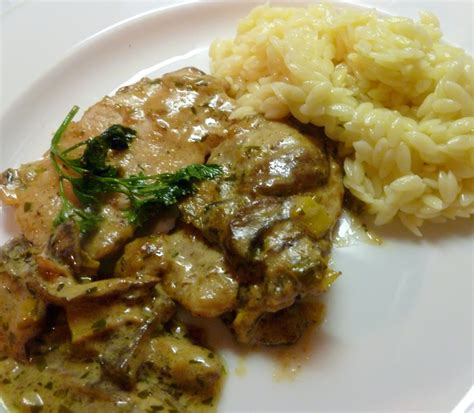 lindaraxa veal scallopini with mushrooms and a mustard