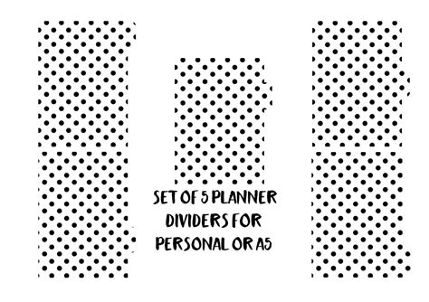 Planner Divider A5 A6 planner dividers a5 dividers personal dividers