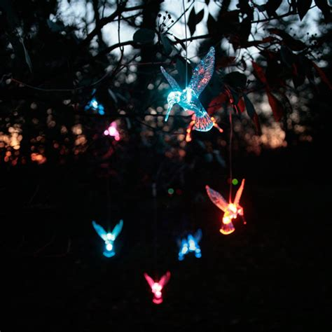 mr light solar hummingbird curtain light garland with
