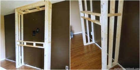 How To Build Out A Fireplace by Remodelaholic Built In Fireplace Surround And Shelving