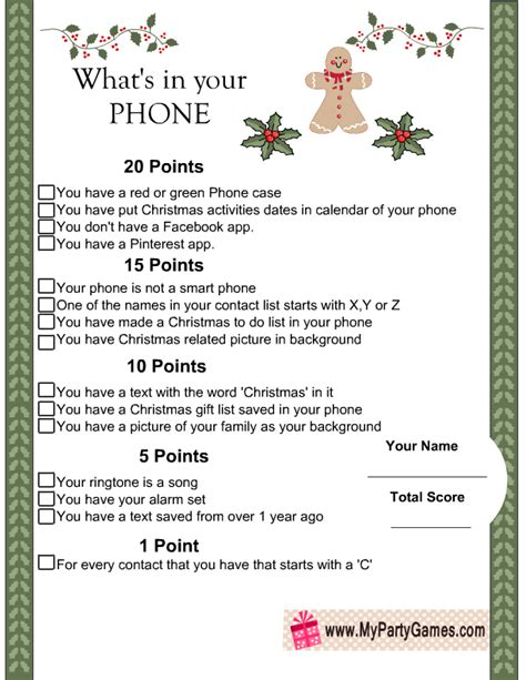 Home Design Games For Adults what s in you phone free printable christmas game