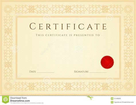 certifikat diplombakgrund mall ram royaltyfri foto