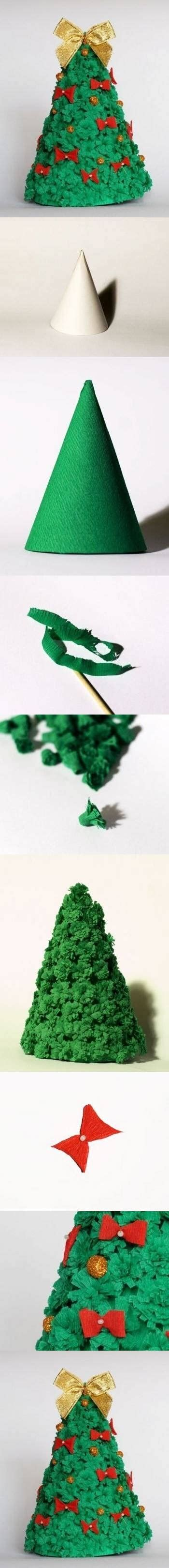diy corrugated crepe paper christmas tree pictures photos