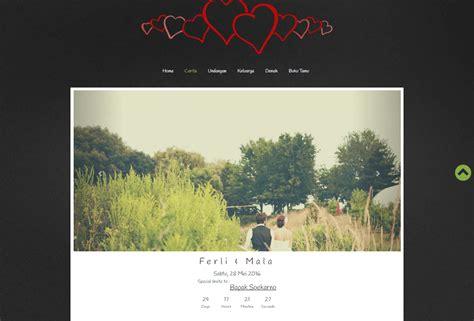 desain undangan pernikahan online desain undangan online one page black datangya com