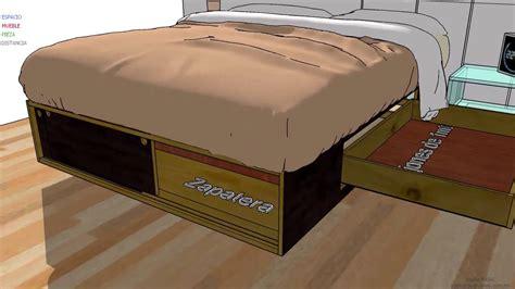 camas con cajones debajo camas matrimonio con cajones debajo base usada individual