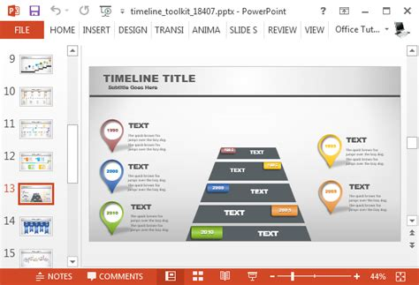 Animated Timeline Powerpoint Template Cpanj Info Animated Timeline Maker