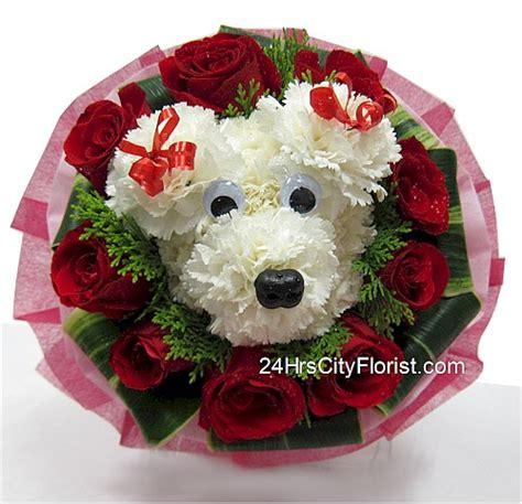 puppy bouquet puppy bouquet rekindling those puppy moments 24 hrs city florist singapore