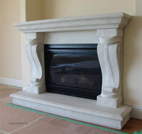 fireplace mantel 08 limestone
