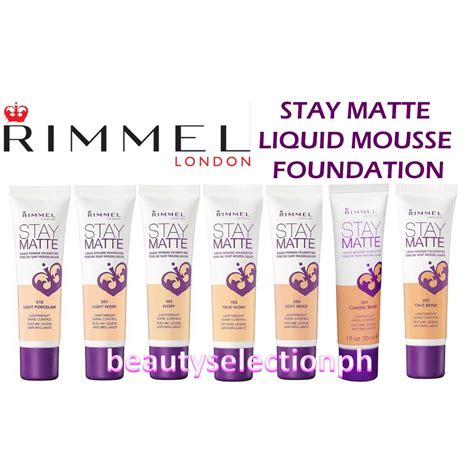 Rimmel Foundation rimmel stay matte liquid mousse foundation