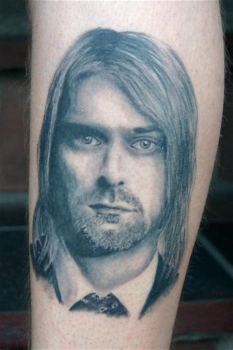 arm realistic kurt cobain tattoo by corpus del ars
