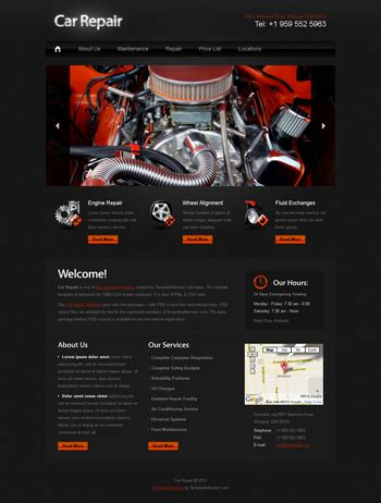 Web Page Design Contests 187 Inspiring Web Page Design For New Website For My Car Borodio 187 Page 1 Mechanic Website Template