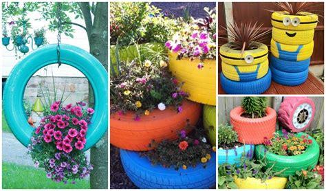 imagenes de jardines con neumaticos reciclando con erika reciclaje de llantas o neum 225 ticos
