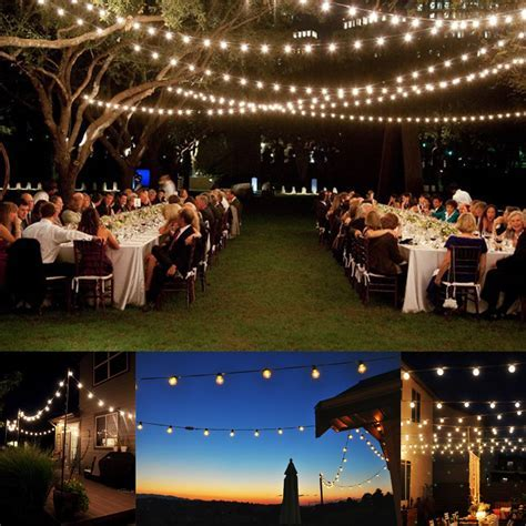 Details about 25Ft Outdoor Patio String Lights W 25 Clear
